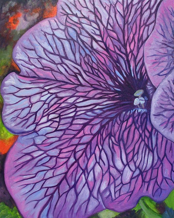Floral Painting - Sugar Daddy Petunia by Sherri Anderson