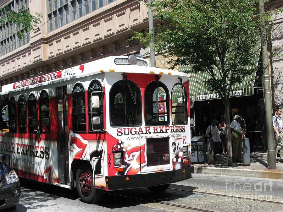 Transportation Photograph - Sugar Express. Philadelphia. Pennsylvania by Ausra Huntington nee Paulauskaite