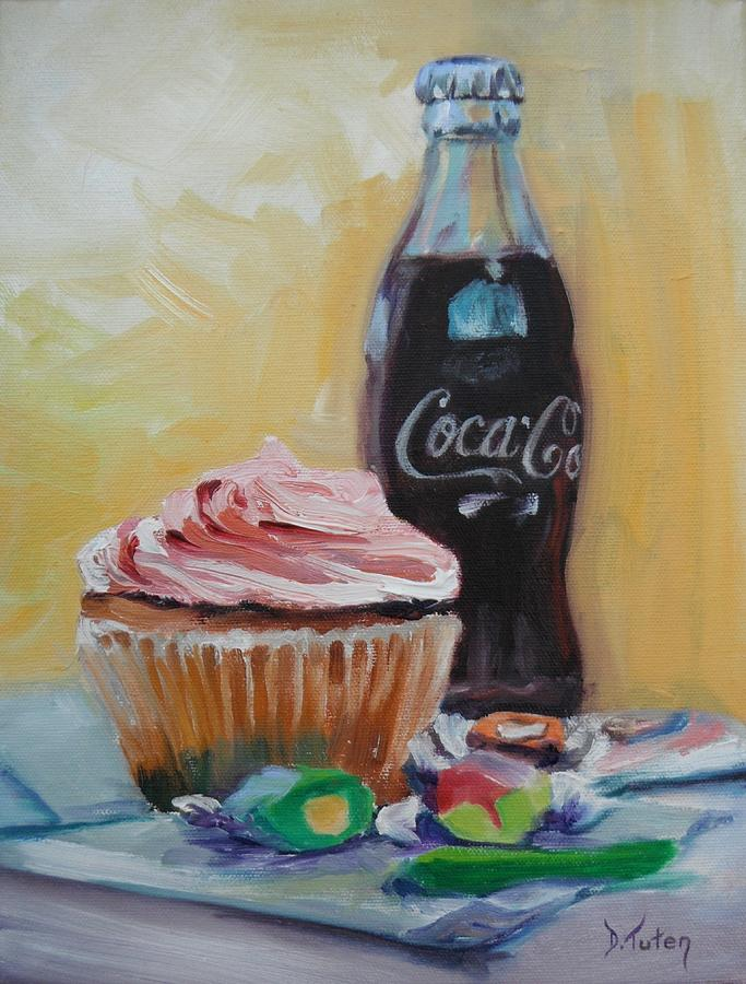 Coke Painting - Sugar Overload by Donna Tuten