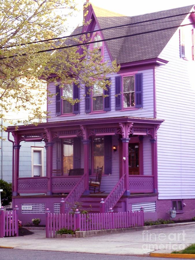 Purple Photograph - Sugar Plum Purple Victorian Home by Kristie Hubler