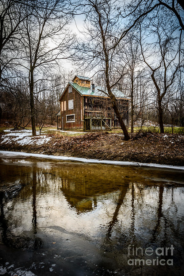 America Photograph - Sugar Shack In Deep River County Park by Paul Velgos