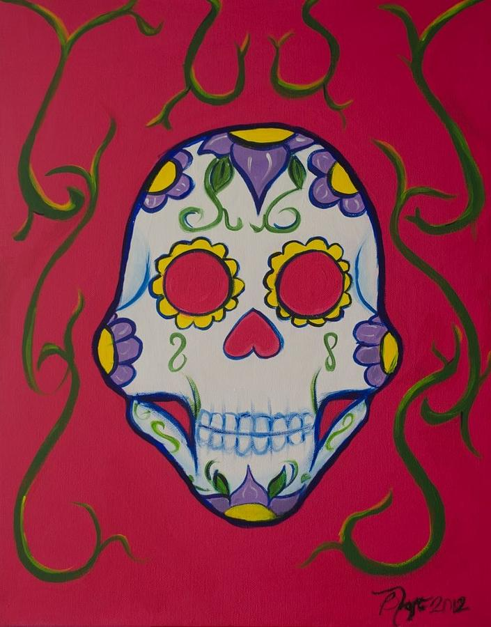 Sugar Skull Painting by Beatriz Topete