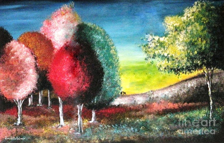 Trees Painting - Sugar Trees by Roni Ruth Palmer