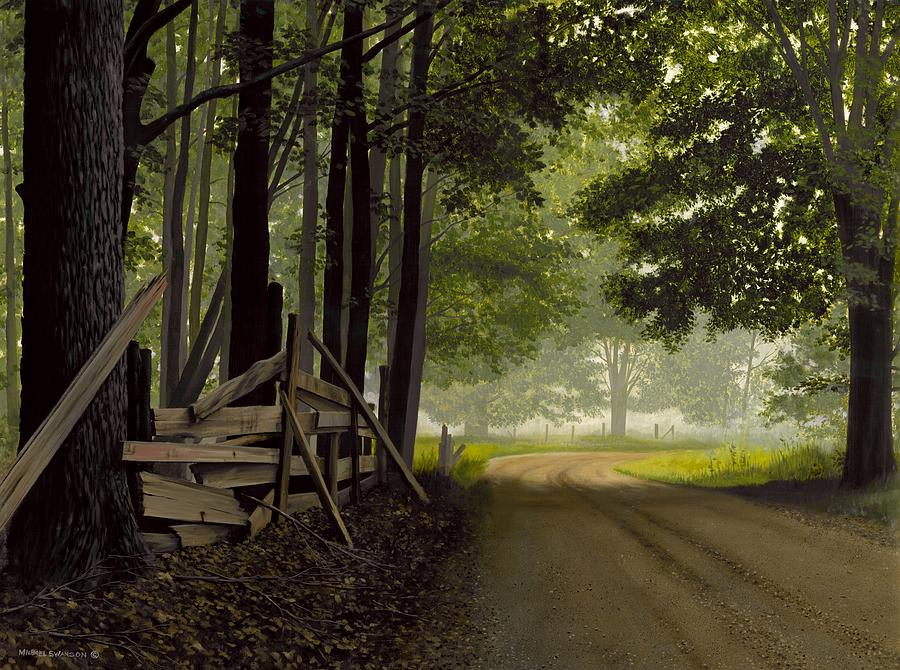 Country Road Painting - Sugarbush Road by Michael Swanson
