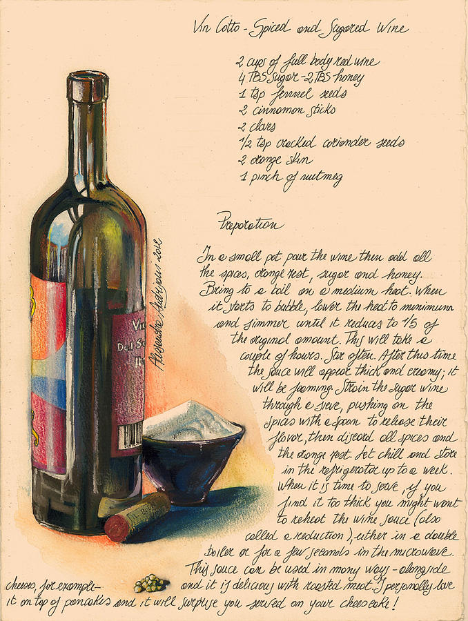 Brown Painting - Sugared Wine by Alessandra Andrisani