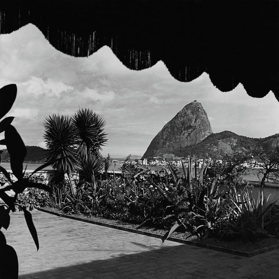 Sugarloaf Mountain Seen From The Patio At Carlos Photograph by Luis Lemus