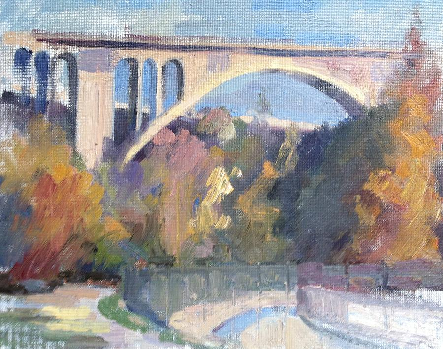 Pasadena Painting - Suicide Bridge Winter by Karla Bartholomew