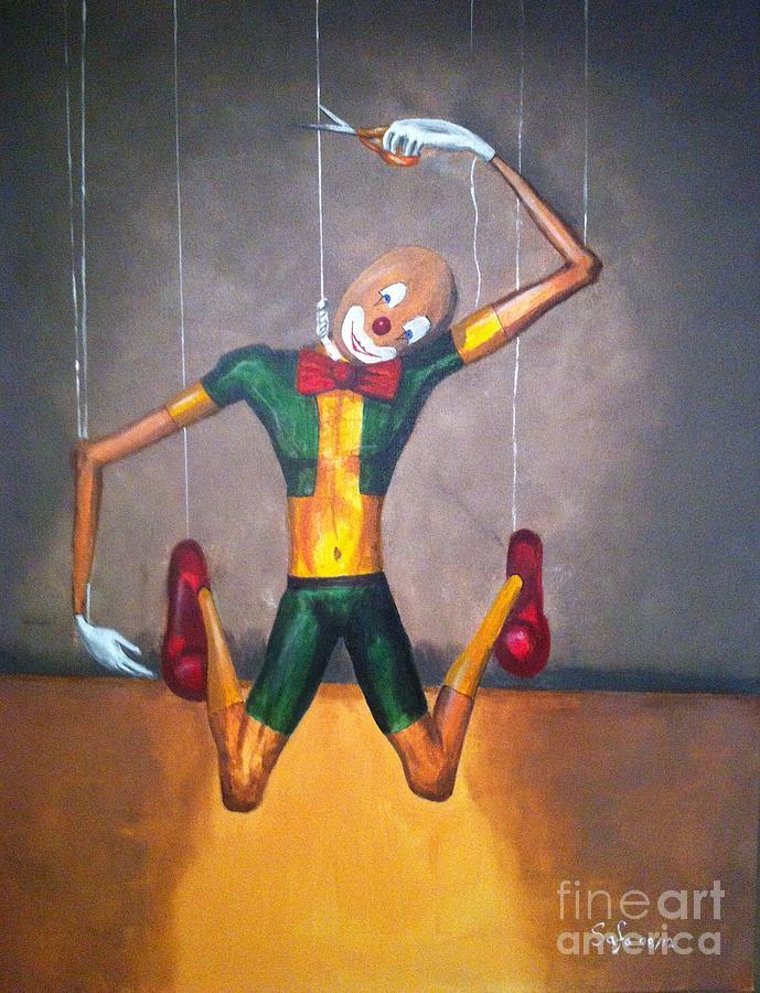Safa Painting - Suicide Of A Puppet by Safa Al-Rubaye