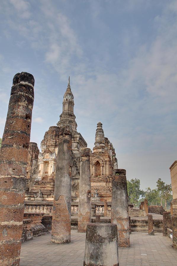 Sukhothai Photograph - Sukhothai Historical Park - Sukhothai Thailand - 011324 by DC Photographer