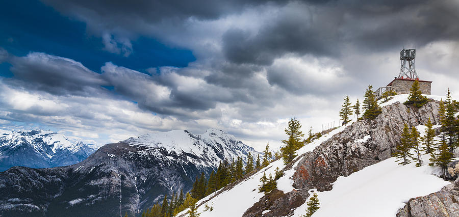 Banff Photograph - Sulphur Mountain Up High by Chris Halford