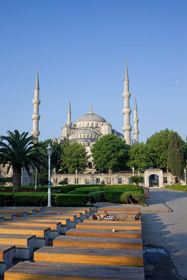 Architecture Photograph - Sultan Ahmet Mosque In Istanbul by Artur Bogacki