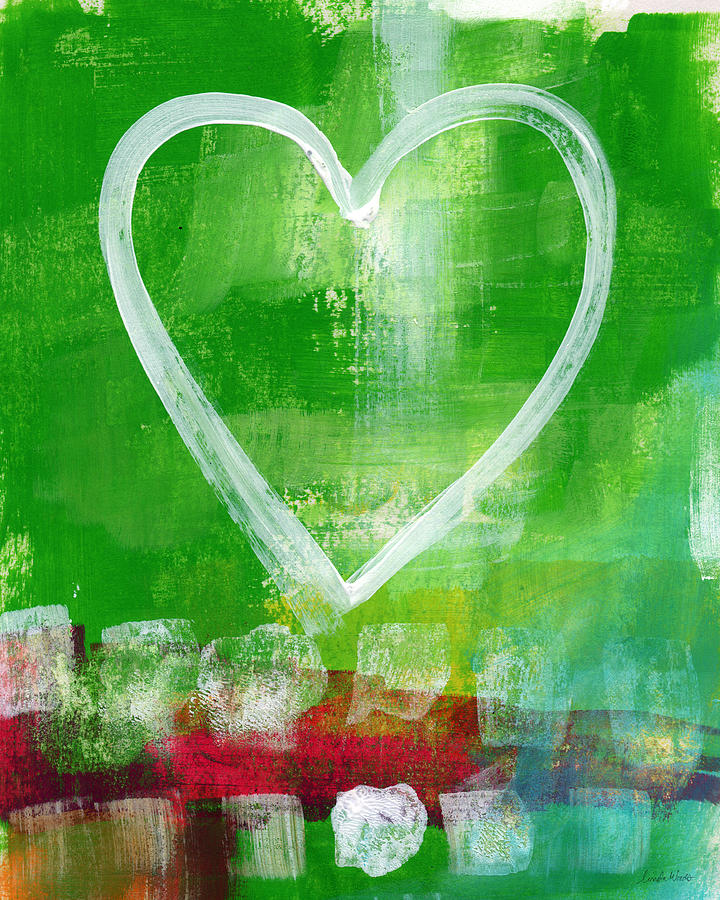 Sumer Love- Abstract Heart Painting Painting