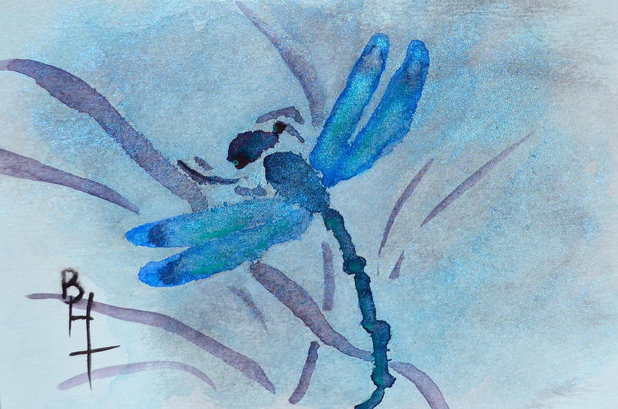 Sumi Dragonfly Painting By Beverley Harper Tinsley