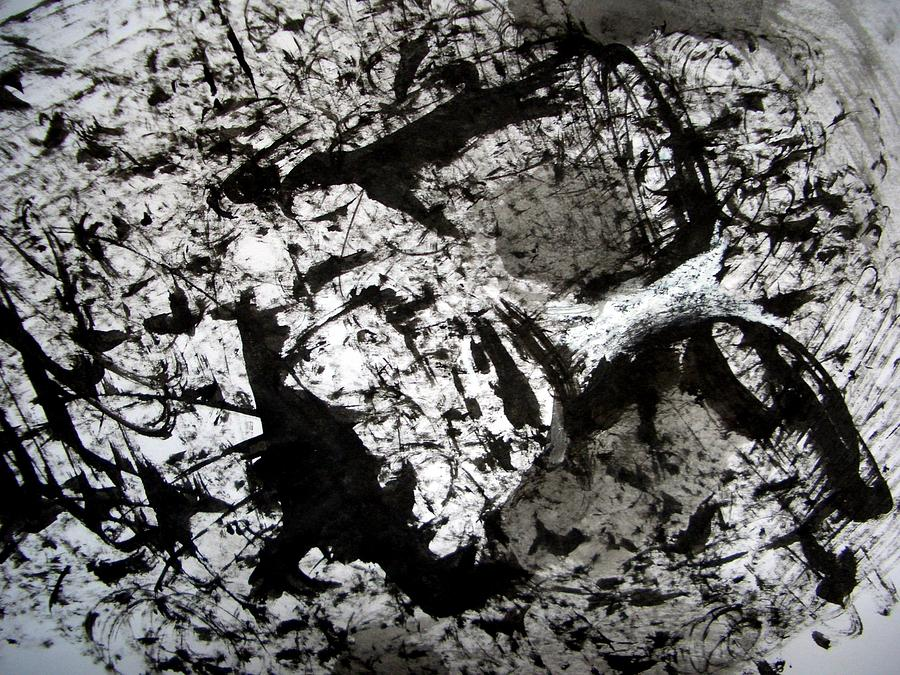 Sumi Drawing - Sumi-e 130422-1 by Aquira Kusume