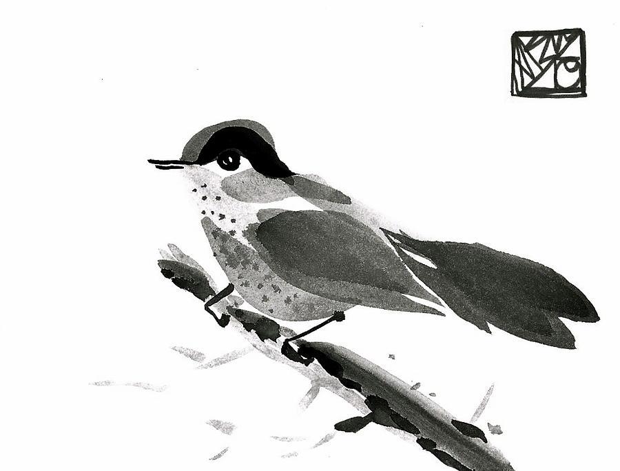 Sumi-e Bird Painting