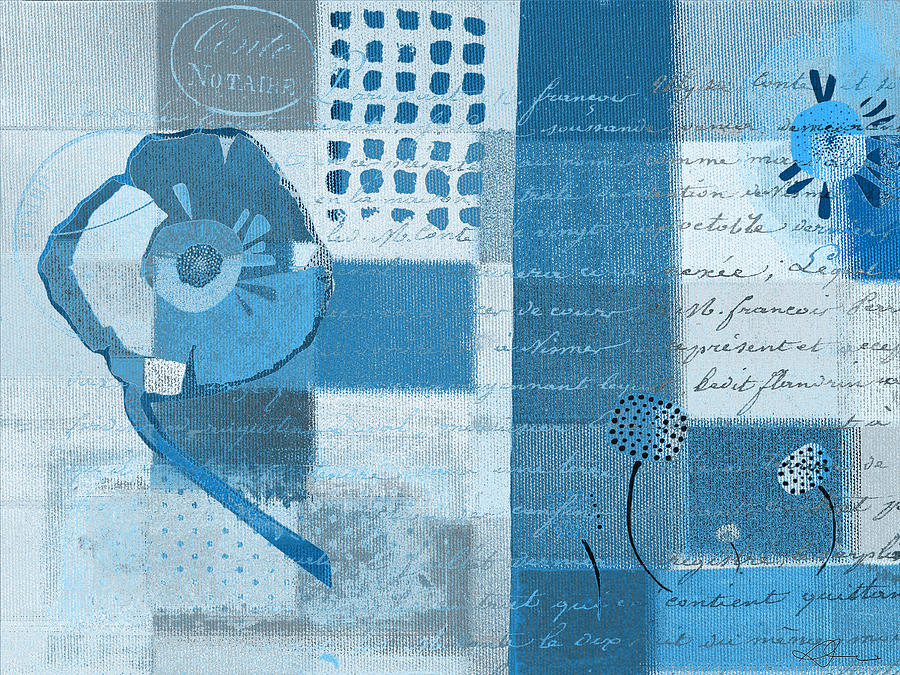 Blue Painting - Summer 2014 - J088097112-blueall by Variance Collections