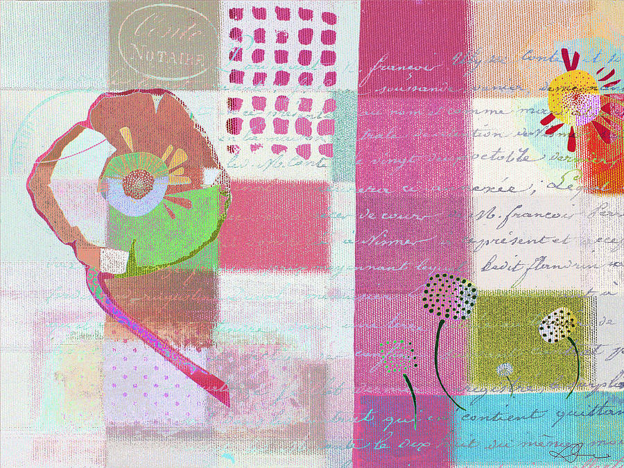 Pink Painting - Summer 2014 - J088097112mci01 by Variance Collections