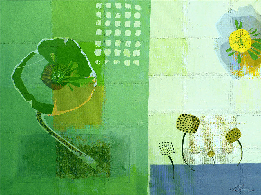 Green Painting - Summer 2014 - J103112106eggr2 by Variance Collections