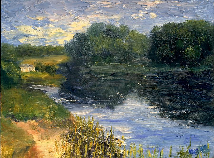 Landscape Painting - Summer At Jackson Lake by Gail Kirtz