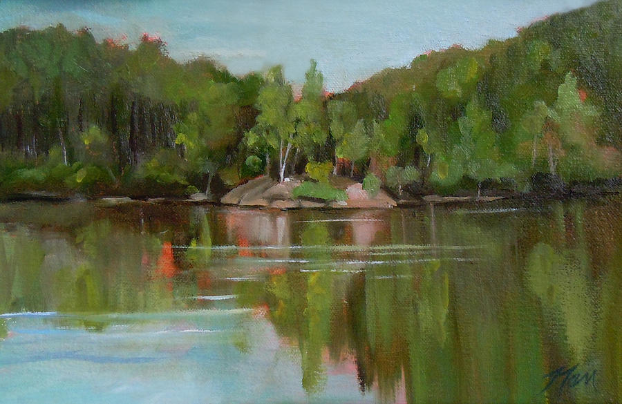 Summer At Mirror Lake Painting By Nancy Griswold