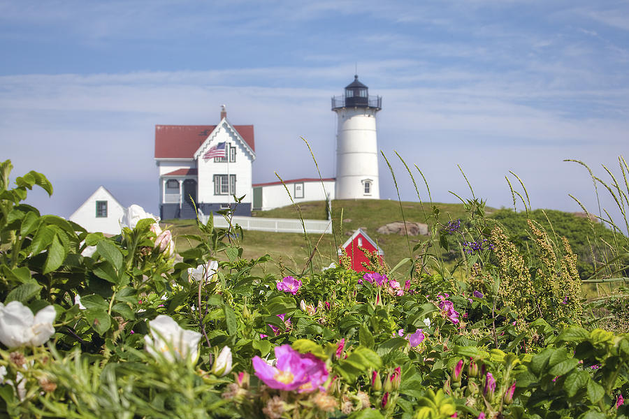 Nubble Photograph - Summer At Nubble Light by Eric Gendron
