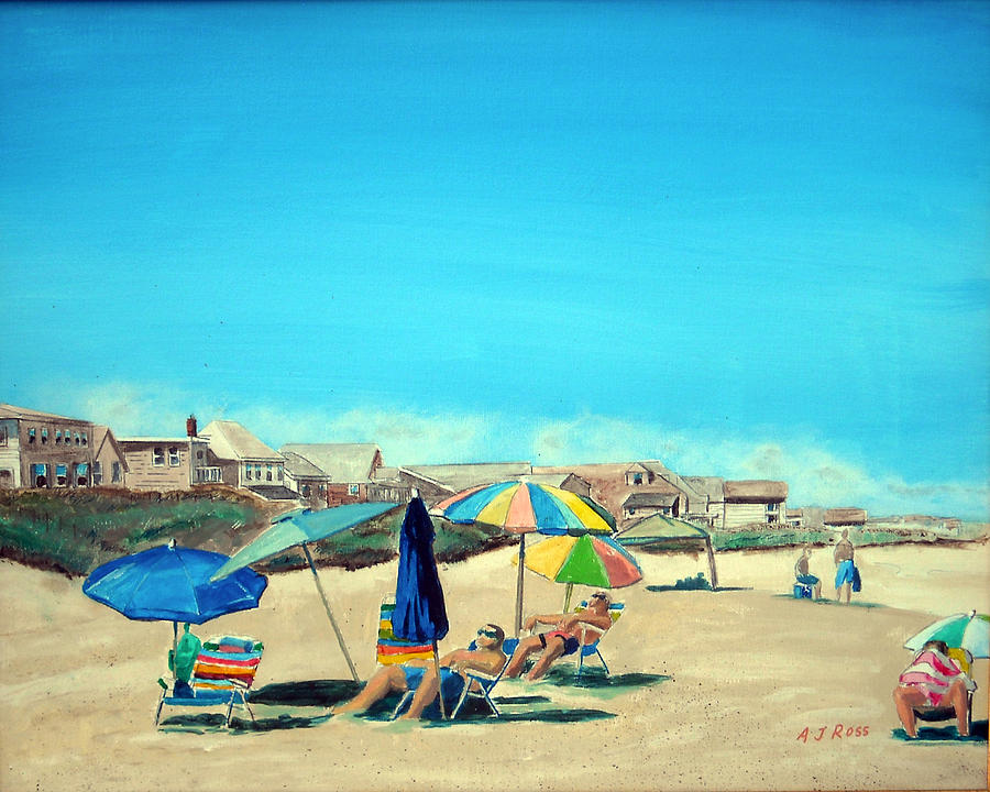 Beach Painting - Summer At Salisbury Beach by Anthony Ross