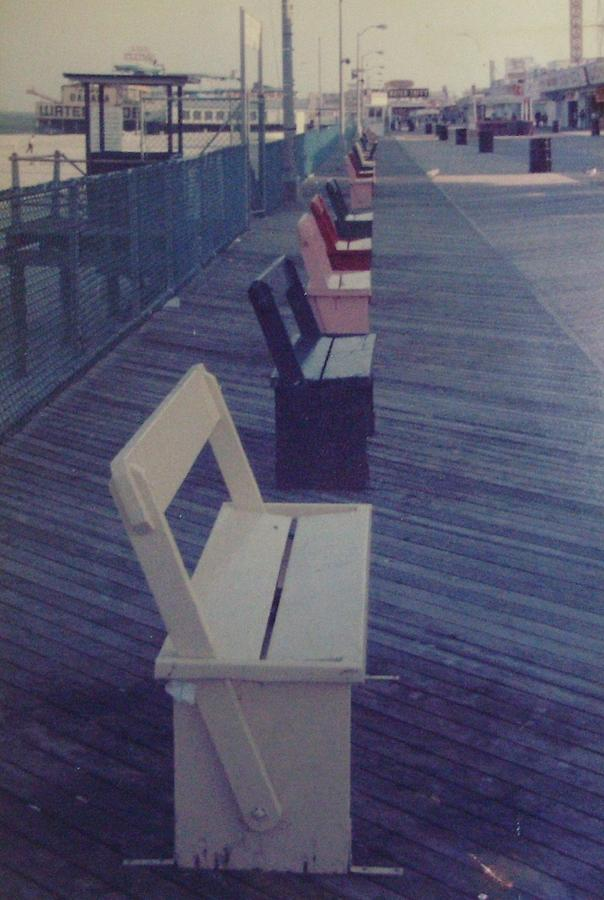 Seaside Heights Photograph - Summer Benches Seaside Heights Nj by Joann Renner