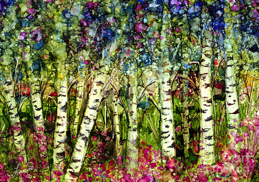 Trees Painting - Summer Birch by Francine Dufour Jones
