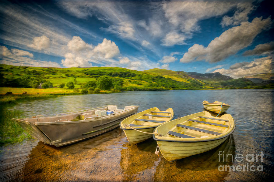 Boat Photograph - Summer Boating by Adrian Evans