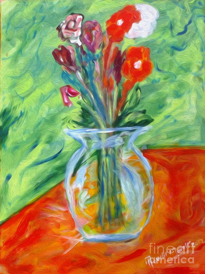 Flowers Painting - Summer Bouquet by Mounir Mounir