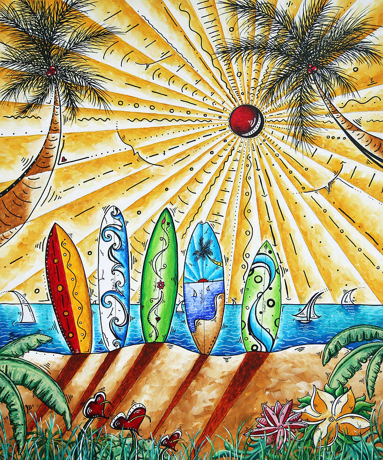 Tropical Painting - Summer Break by MADART by Megan Duncanson