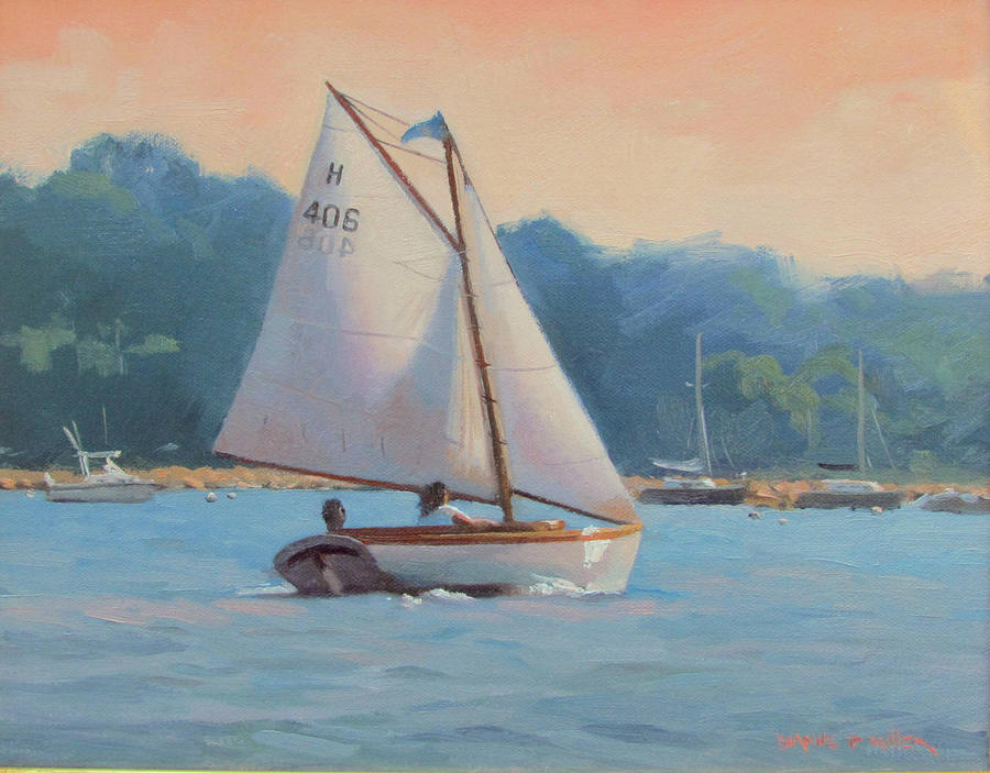 Sail Boat Painting - Summer Breeze by Dianne Panarelli Miller