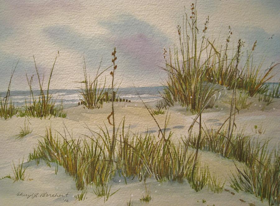 Shoreline Painting - Summer Breezes by Cheryl Borchert