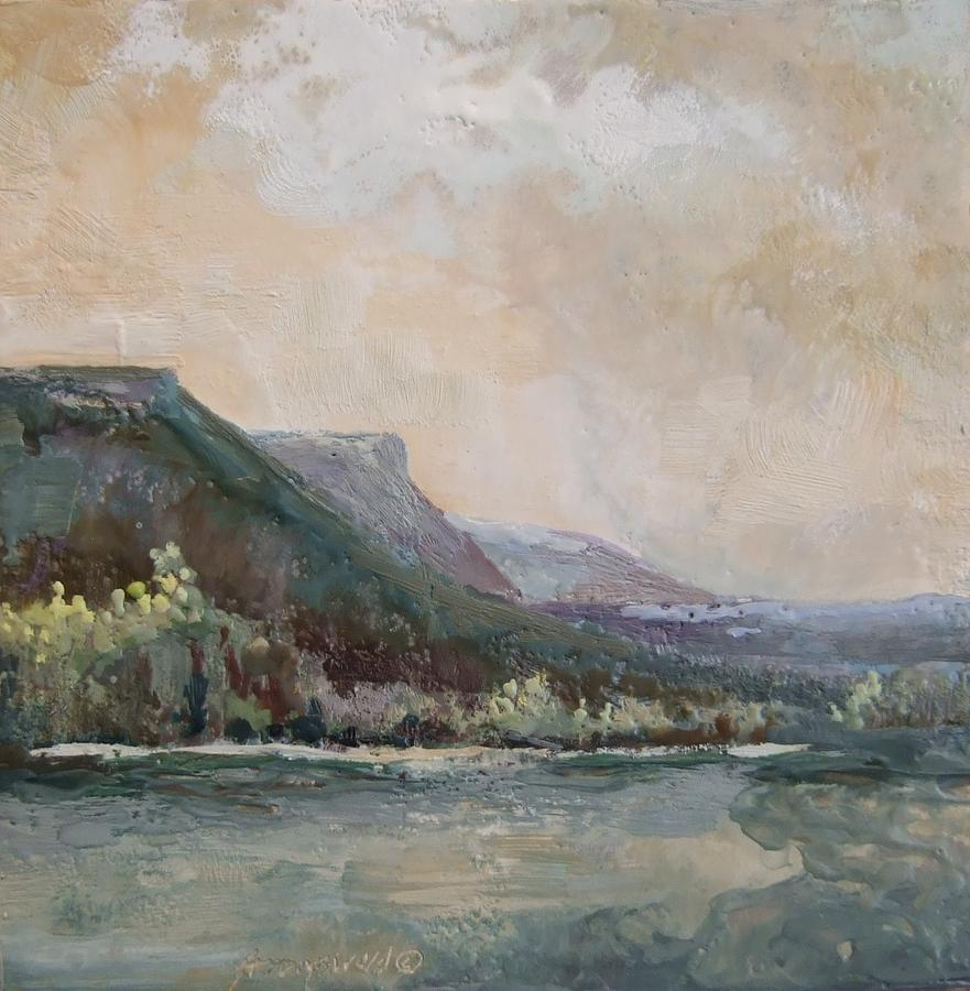 Mountains Painting - Summer Buttes by Ruth Stromswold