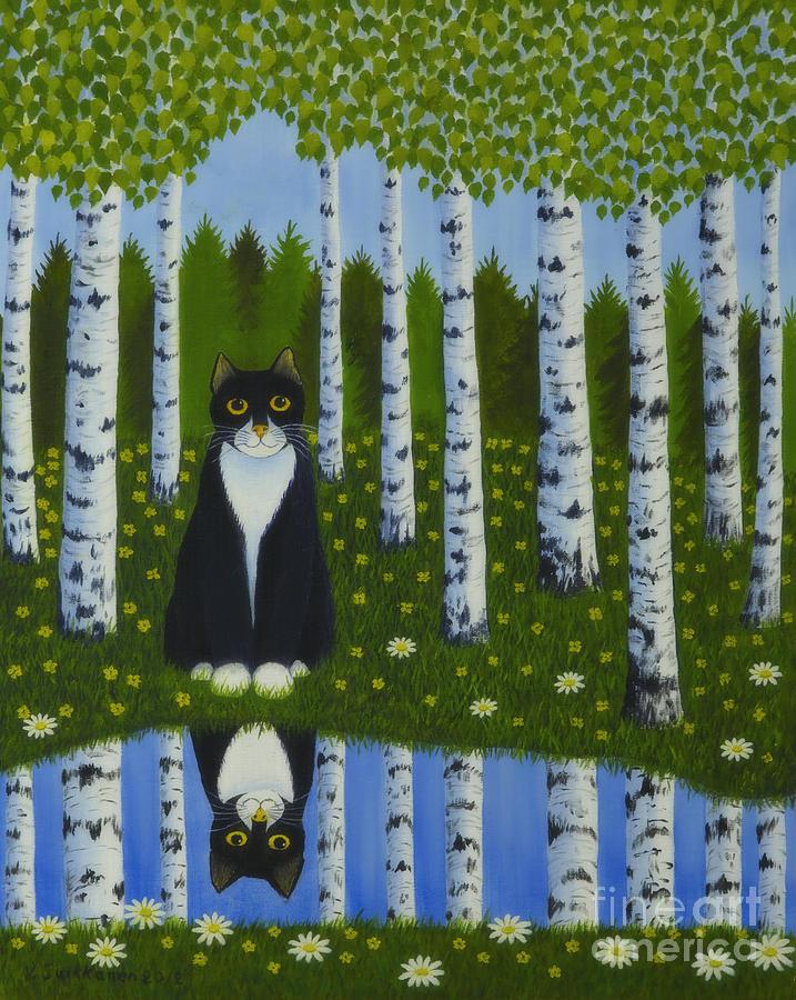 Animal Painting - Summer Cat by Veikko Suikkanen