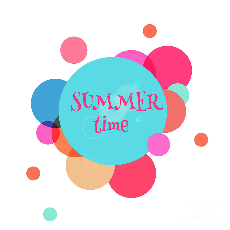 Rest Digital Art - Summer Colorful Background With Text - by Vector art