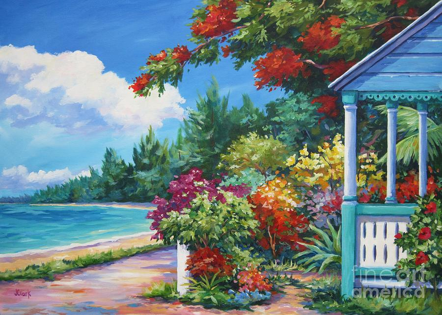 Cayman Painting - Summer Colors by John Clark