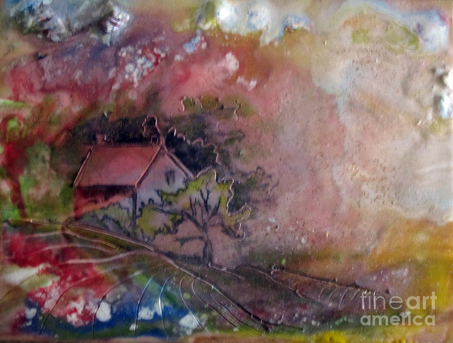 Summer Painting - Summer Cottage by CJ  Rider