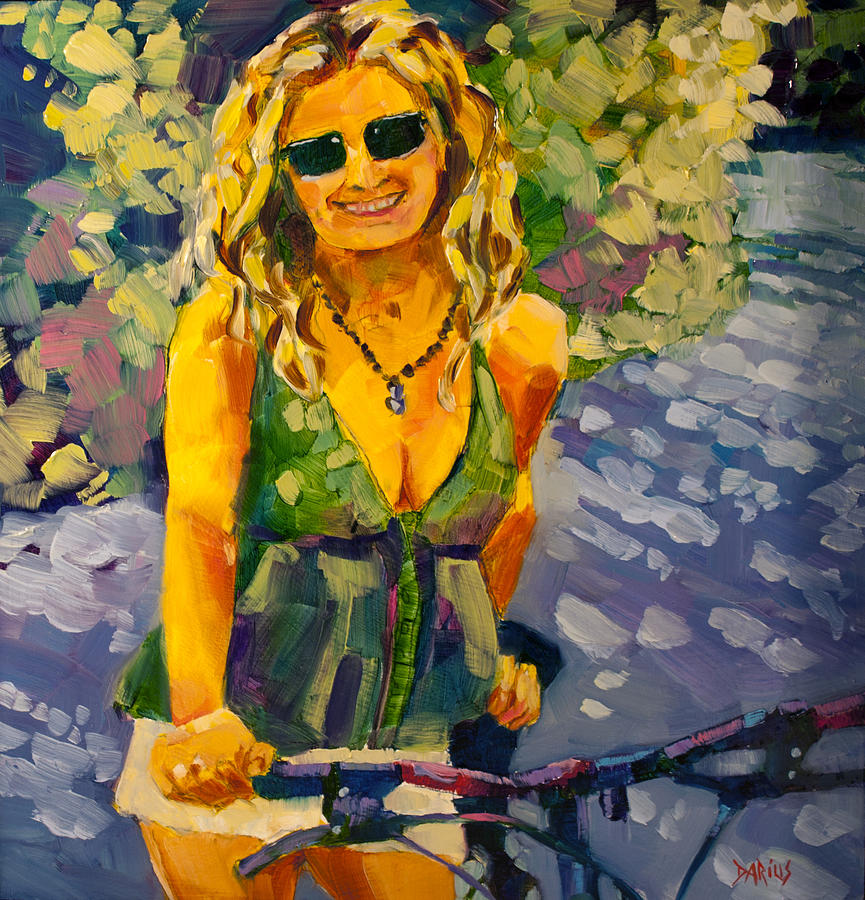 Summer Cycling Painting