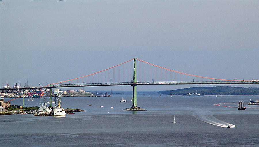 George Photograph - Summer Day On Halifax Harbour by George Cousins