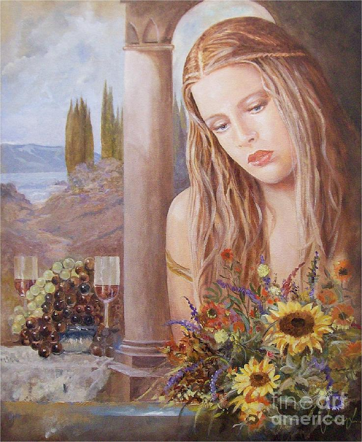 Portrait Painting - Summer Day by Sinisa Saratlic
