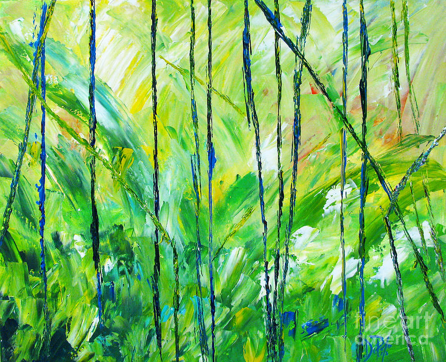 Abstract Painting - Summer Days by JoAnn DePolo
