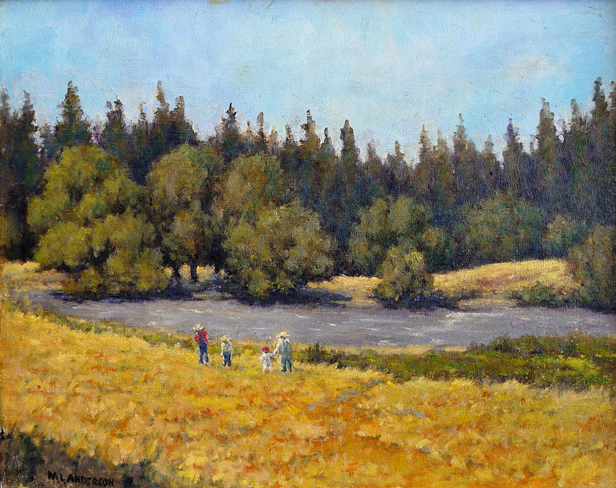 Outing Painting - Summer Days by Marv Anderson