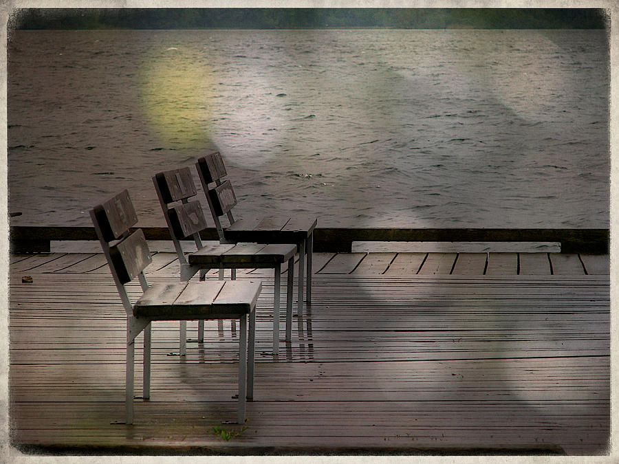 Waterfront Photograph - Summer Dock Waterfront Fine Art Photograph by Laura Carter