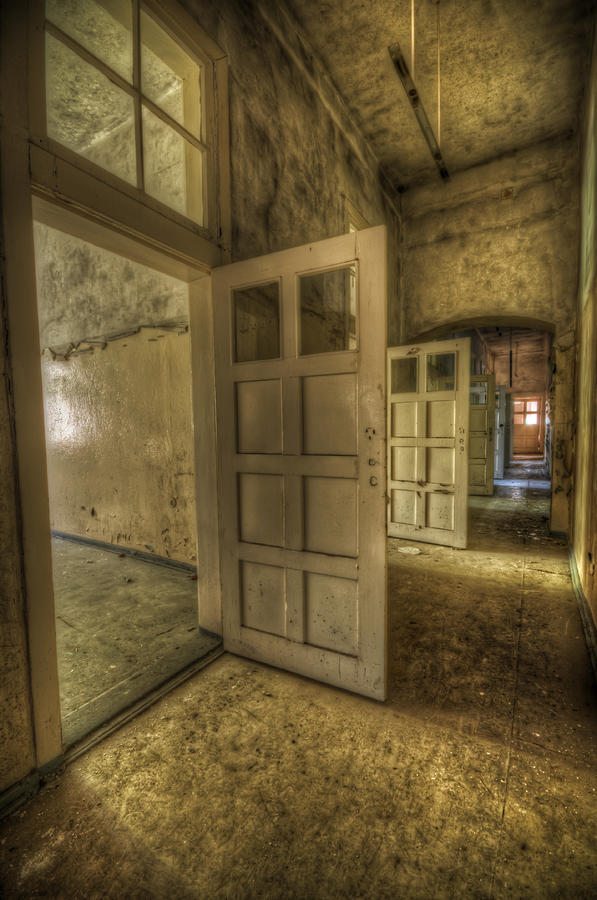 Urbex Digital Art - Summer Doors by Nathan Wright