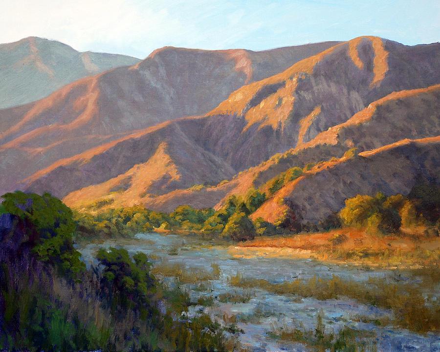 Eaton Canyon Painting - Summer Evening Eaton Canyon by Armand Cabrera