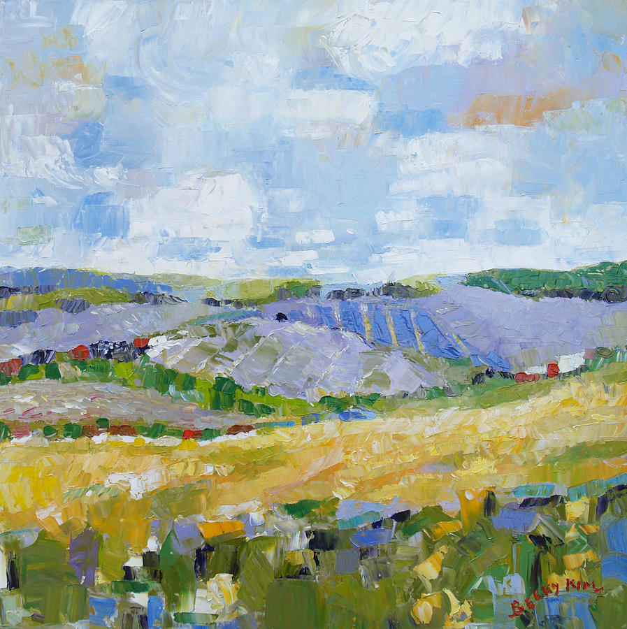 Oil Painting - Summer Field 3 by Becky Kim