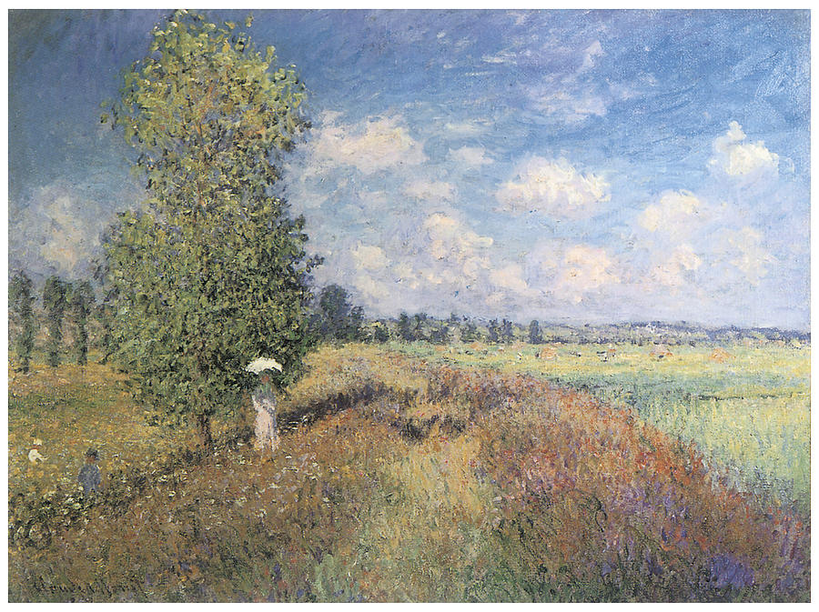 Poppy Painting - Summer Field Of Poppies by Claude Monet