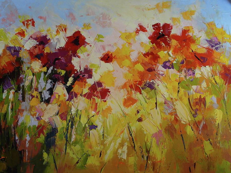 Garden Painting - Summer Field by Yvonne Ankerman