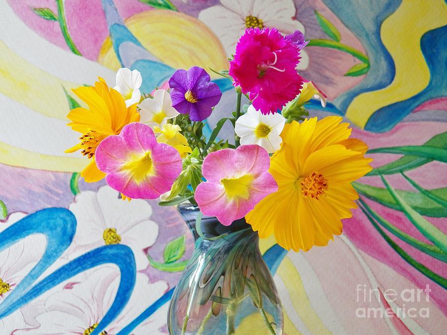Flowers Painting - Summer Fiesta Island by Judy Via-Wolff